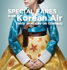 SPECIAL FARES from Korean Air (only available on Giamso)